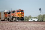 BNSF C44-9W #4608 Leads an eastbound